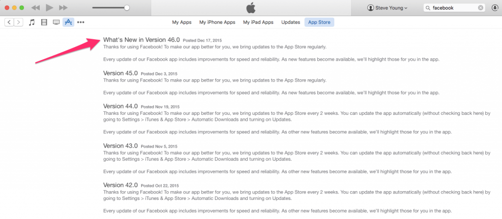 """Make sure your """"Update Notes"""" match with the features you are including in your press pitch."""