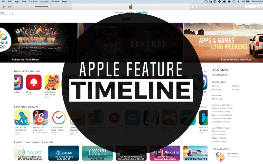 Apple Feature Timeline (with Email Template)