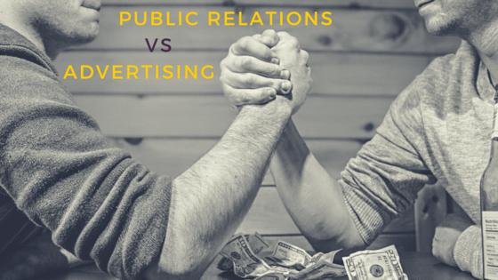 Public Relations versus Advertising